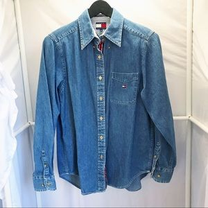 Vintage Tommy Hilfiger Jean Shirt Women's size 8